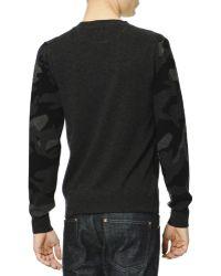 Valentino Camo-Front Cashmere Sweater - Lyst