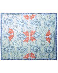 Athena Procopiou - Flowering Palampore-Print Fine-Knit Scarf - Lyst