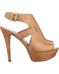 Guess Ofira Calf Leather Platform Heels - Lyst