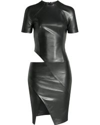 Alexandre Vauthier Leather Dress With Cut-Out Detail - Lyst
