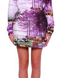 Mary Katrantzou Harbour Printed Silk Blend Skirt - Lyst