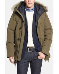 Canada Goose womens sale cheap - Canada goose Chateau Parka with Fur Hood in Gray for Men (Graphite ...
