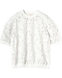 Rebecca Taylor Embroidered Floral Top - Lyst