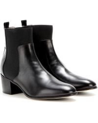 Jimmy Choo Hallow Leather Ankle Boots - Lyst