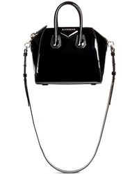 Givenchy 'Antigona' Mini Patent Leather Bag black - Lyst