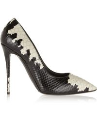 Giuseppe Zanotti Yvette Printed Snakeeffect Leather Pumps - Lyst
