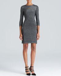 Karen Kane Metallic Knit Dress - Lyst