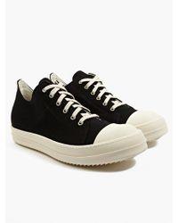 DRKSHDW by Rick Owens Men'S Black Lace-Up Sneakers black - Lyst