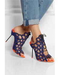 Sophia Webster Greta Crystalembellished Cutout Suede Sandals - Lyst