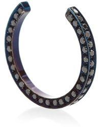 Maison Dauphin - Single Open Band Blue Rhodium Ring - Lyst