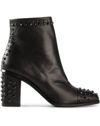 Alexander McQueen Studded Ankle Boots - Lyst