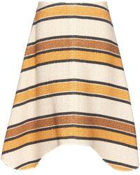 Chloé Beige Tweed Skirt - Lyst