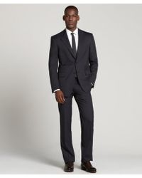 Prada Dark Grey Pin Dot Wool Two-Button Suit With Flat Front Pants - Lyst