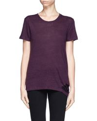 Iro Poppy Distressed Linen T-Shirt - Lyst