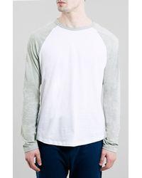 Topman Raglan Baseball T-Shirt - Lyst