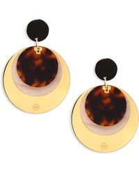 Tory Burch | Layered Disc Earrings/goldtone | Lyst