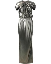 Lanvin Draped Gathered Gown - Lyst