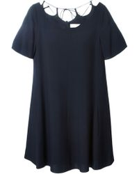 Chloé Lace Detail Dress blue - Lyst