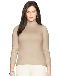 Lauren by Ralph Lauren - Silk Blend Turtleneck - Lyst