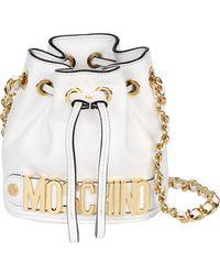 Moschino Mini Leather Bucket Bag - Lyst