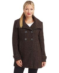 Steve Madden Wing Collar Coat - Lyst