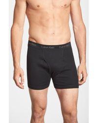 Calvin Klein Boxer Briefs, (3-Pack) black - Lyst