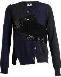 Junya Watanabe Wool Blend Patchwork Knit - Lyst