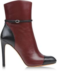Marc By Marc Jacobs Red Ankle Boots - Lyst