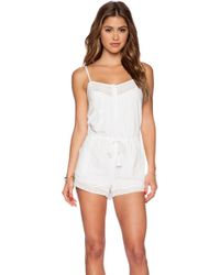 Twelfth Street Cynthia Vincent - Lace Trimmed Romper - Lyst