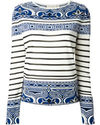Emilio Pucci Patterned Intarsia Jumper - Lyst