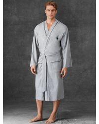 Polo Ralph Lauren Gray Kimono Robe - Lyst