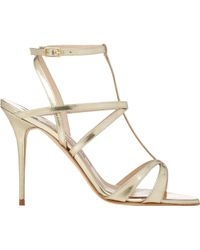 Manolo Blahnik Amedea T-Strap Sandals - Lyst