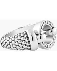 Lagos 'Enso' Caviar Ring silver - Lyst