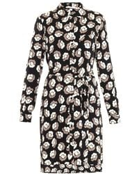 Diane Von Furstenberg Ballet Rose Shirt Dress - Lyst