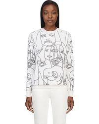 Stella McCartney Ivory Puckered Knit Sweater - Lyst