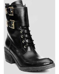 Donald J Pliner Lace Up Combat Boots Danti - Lyst