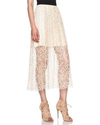 Adam Lippes Moroccan Lace Double Layer Lace Skirt - Lyst