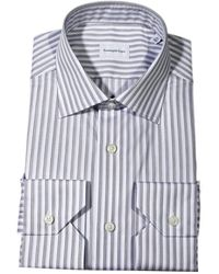 Ermenegildo Zegna Shirt Jimmy Stripe Wide Cotton - Lyst