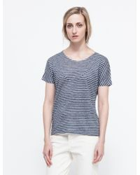 Objects Without Meaning Basia Tee In Stripe - Lyst