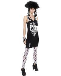 KTZ - Printed Stretch Viscose Jersey Dress - Lyst