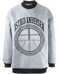 Astrid Andersen - Laminated Logo Sweater - Lyst
