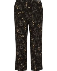 Marni Printed Wool Straightleg Pants - Lyst