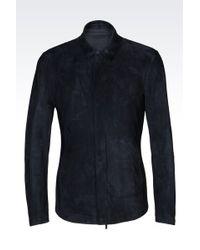 Emporio Armani | Leather Shirt | Lyst