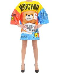 Moschino Printed-T-Shirt-Dress - Lyst