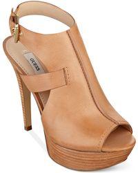 Guess Ofira Platform Sandals - Lyst