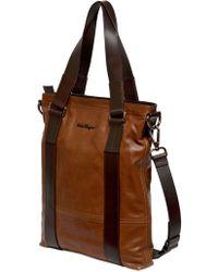 Ferragamo Washed Calf Leather Tote Bag - Lyst