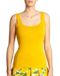 Michael Kors Cashmere Scoopneck Sweater Tank yellow - Lyst