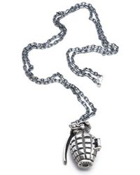 Miansai Silver Grenade Pill Holder silver - Lyst