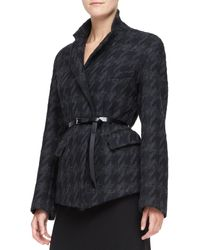 Donna Karan New York Belted Convertible Jacket - Lyst