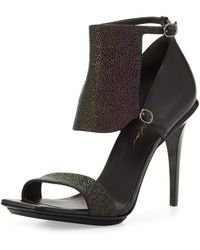3.1 Phillip Lim Aurora Stingray-print Leather Sandal - Lyst